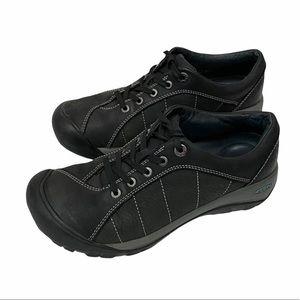 Keen Presidio Black Nubuck Leather Walking Shoe 8